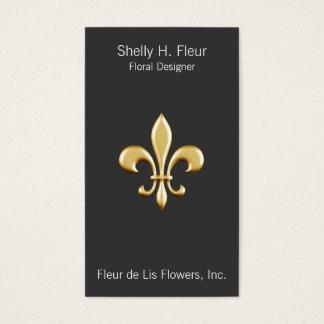 Golden Fleur De Lis Business Card