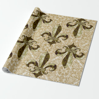 Golden Fleur de Lis Wrapping Paper