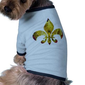 Golden Fleur-de-Lis  ;   ZazzleRocks Series Pet Tee