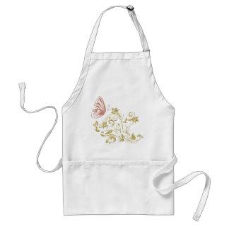 Golden floral butterfly standard apron