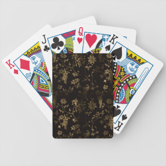 Golden floral decoration bicycle playing cards