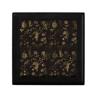 Golden floral decoration gift box