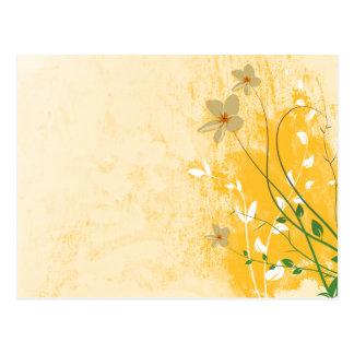 golden floral modern design postcard