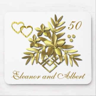 GOLDEN FLORAL ~ Mousepad