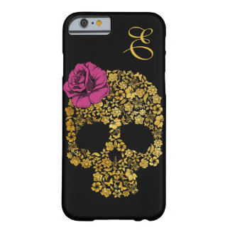 Golden Floral Skull With Rose | iPhone 6 case Barely There iPhone 6 Case