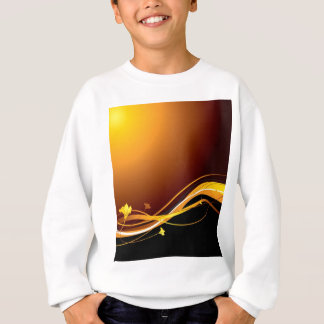 Golden floral sunset sweatshirt