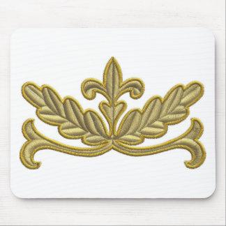 GOLDEN FLORAL VINTAGE MOUSE PADS