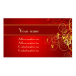 Golden florals profile card Double-Sided standard business cards (Pack of 100)