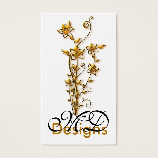 Golden Flower Graphic Design :: Business Card