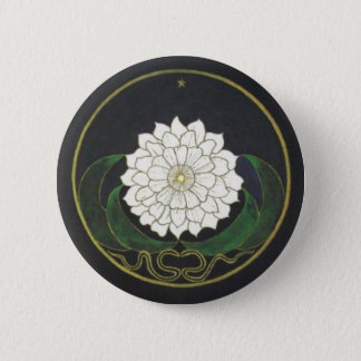 Golden Flower Mandala 6 Cm Round Badge