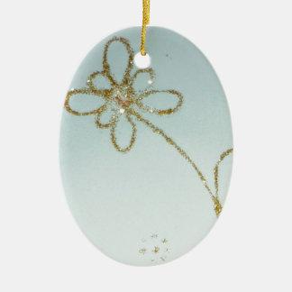 Golden Flower Ornament