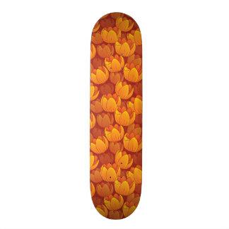 Golden Flower Pattern 18.1 Cm Old School Skateboard Deck