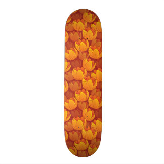 Golden Flower Pattern Skate Deck