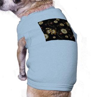 Golden flowers dog tee shirt