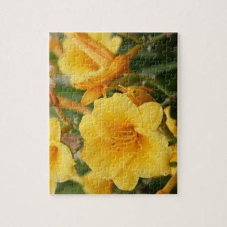 Golden Flowers Jigsaw Puzzle