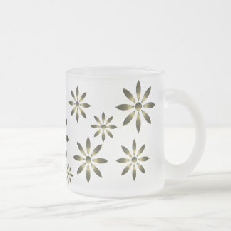 Golden Flowers Mug
