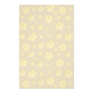 Golden flowers seamless pattern personalised stationery