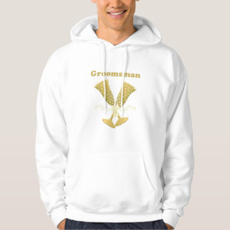 Golden Flutes Groomsman Gift Hooded Sweatshirts