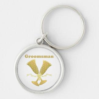 Golden Flutes Groomsman Gift Keychains