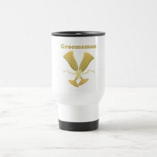 Golden Flutes Groomsman Gift Stainless Steel Travel Mug