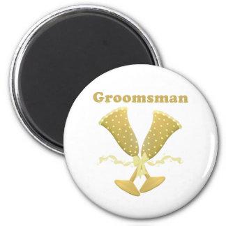 Golden Flutes Groomsman magnet