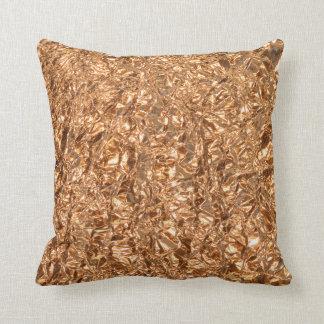 Golden foil. throw pillow