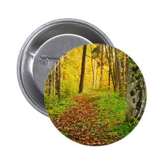 Golden Fores In Sigulda 6 Cm Round Badge