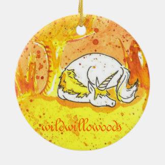 Golden Forest Unicorn Ornament