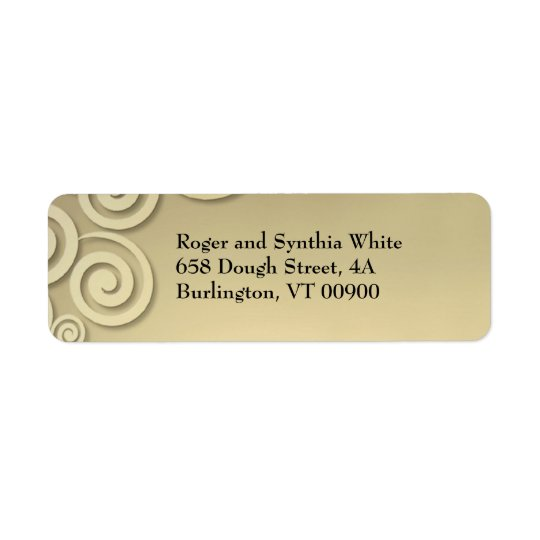 Golden Formal Return Address Label