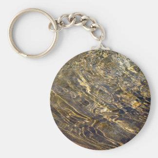 Golden Fountain Water 2 Basic Round Button Key Ring