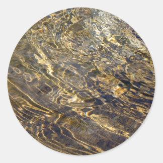 Golden Fountain Water 2 Round Stickers