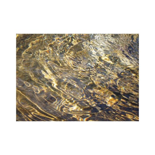 Golden Fountain Water 2 Stretched Canvas Print