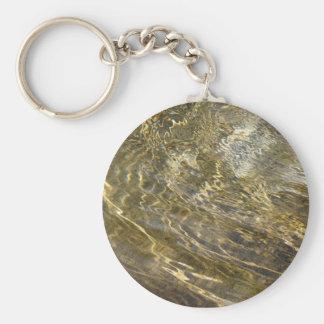 Golden Fountain Water Basic Round Button Key Ring