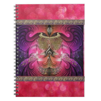 Golden Fractal Scarab Notebook