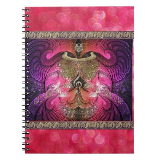 Golden Fractal Scarab Notebook