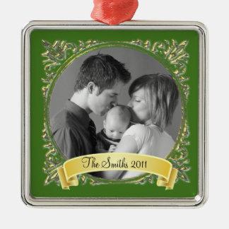 Golden Frame Christmas Ornament