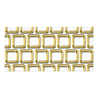 Golden frames pattern photo card