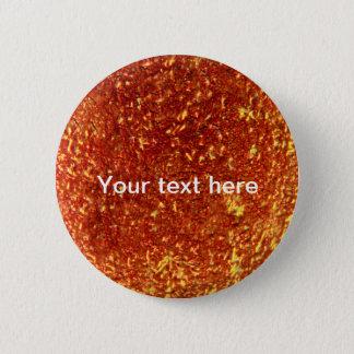 Golden fused glass 6 cm round badge