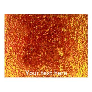 Golden fused glass postcard