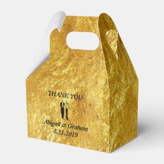 Golden Gabled Wedding Favor Box Party Favour Boxes