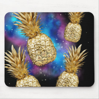 Golden galaxy pineapple mouse mat