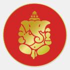 Golden Ganesha Classic Round Sticker