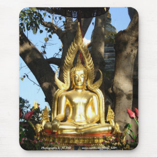 Golden Garden Buddha Mouse Pad