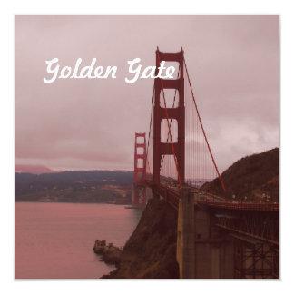 Golden Gate 13 Cm X 13 Cm Square Invitation Card