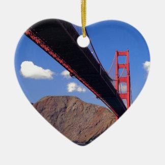 Golden Gate Bridge 10 Ceramic Heart Decoration