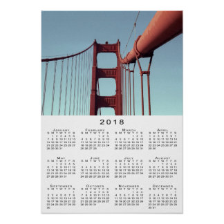 Golden Gate Bridge 2018 Calendar Poster