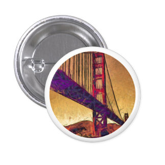 Golden gate bridge 3 cm round badge
