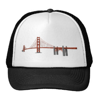 Golden Gate Bridge 3D Model Trucker Hat