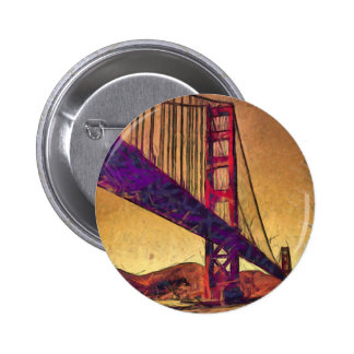 Golden gate bridge 6 cm round badge