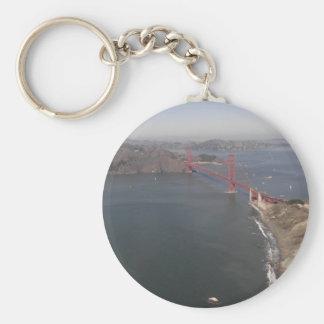 Golden Gate Bridge Aerial Photo Keychain